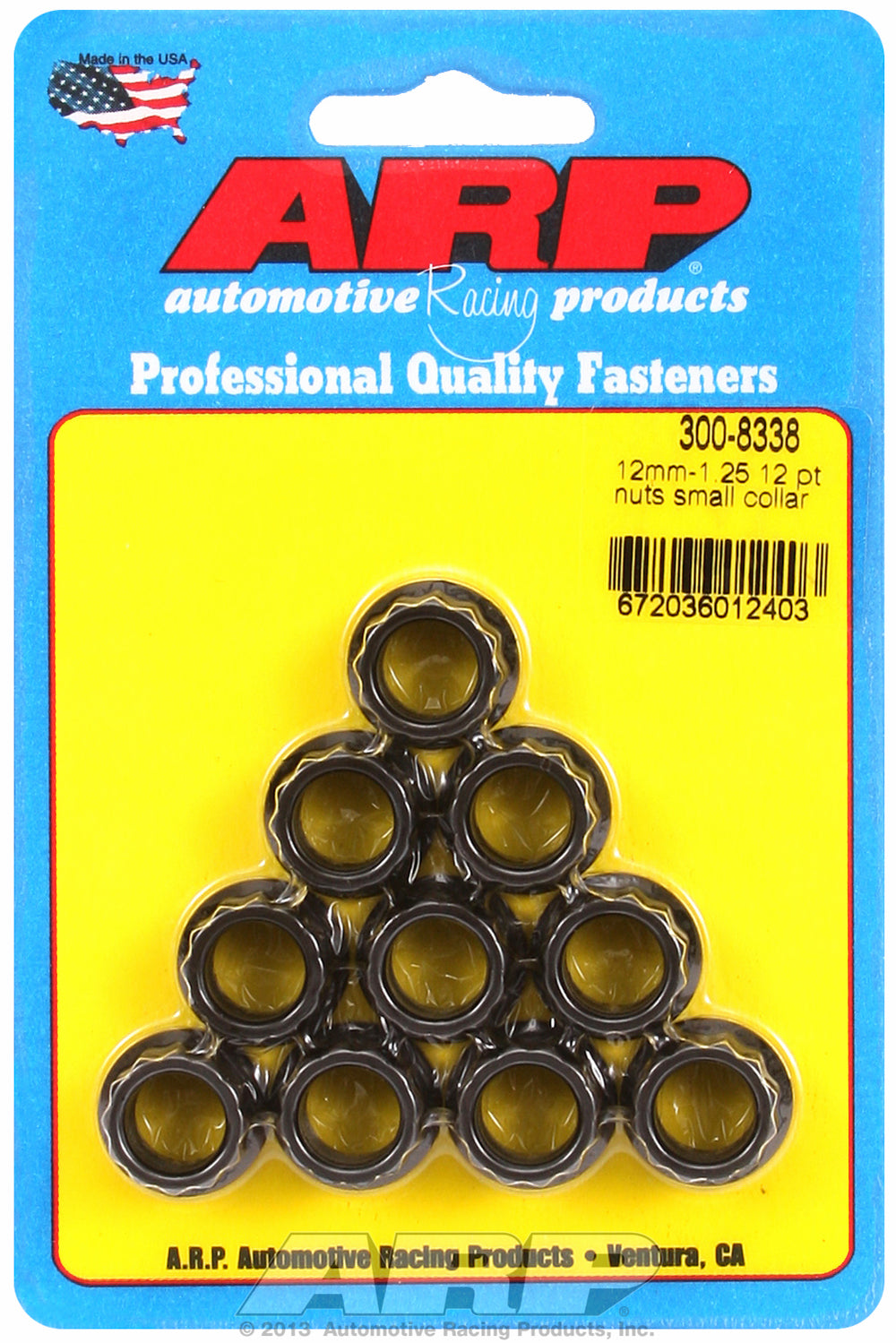 M12  8740 Black Oxide 12-pt Nut Kit