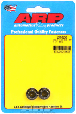M8  8740 Black Oxide 12-pt Nut Kit