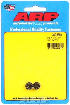 M6  8740 Black Oxide 12-pt Nut Kit