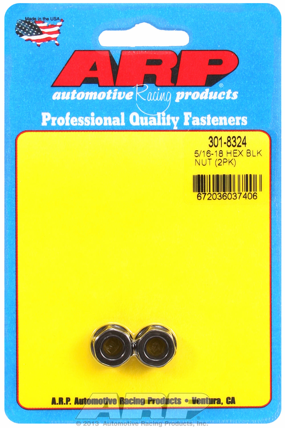 5/16-18 (2) 2-PC Pack Hex Nut