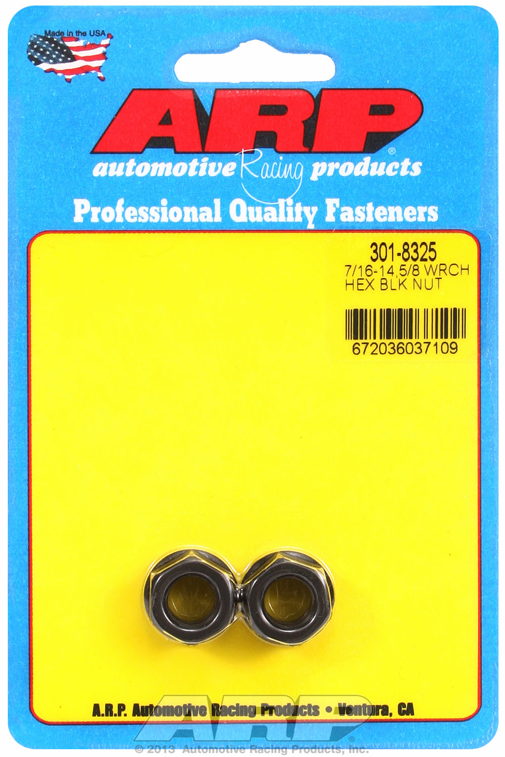 7/16-14 (2) 2-PC Pack Hex Nut