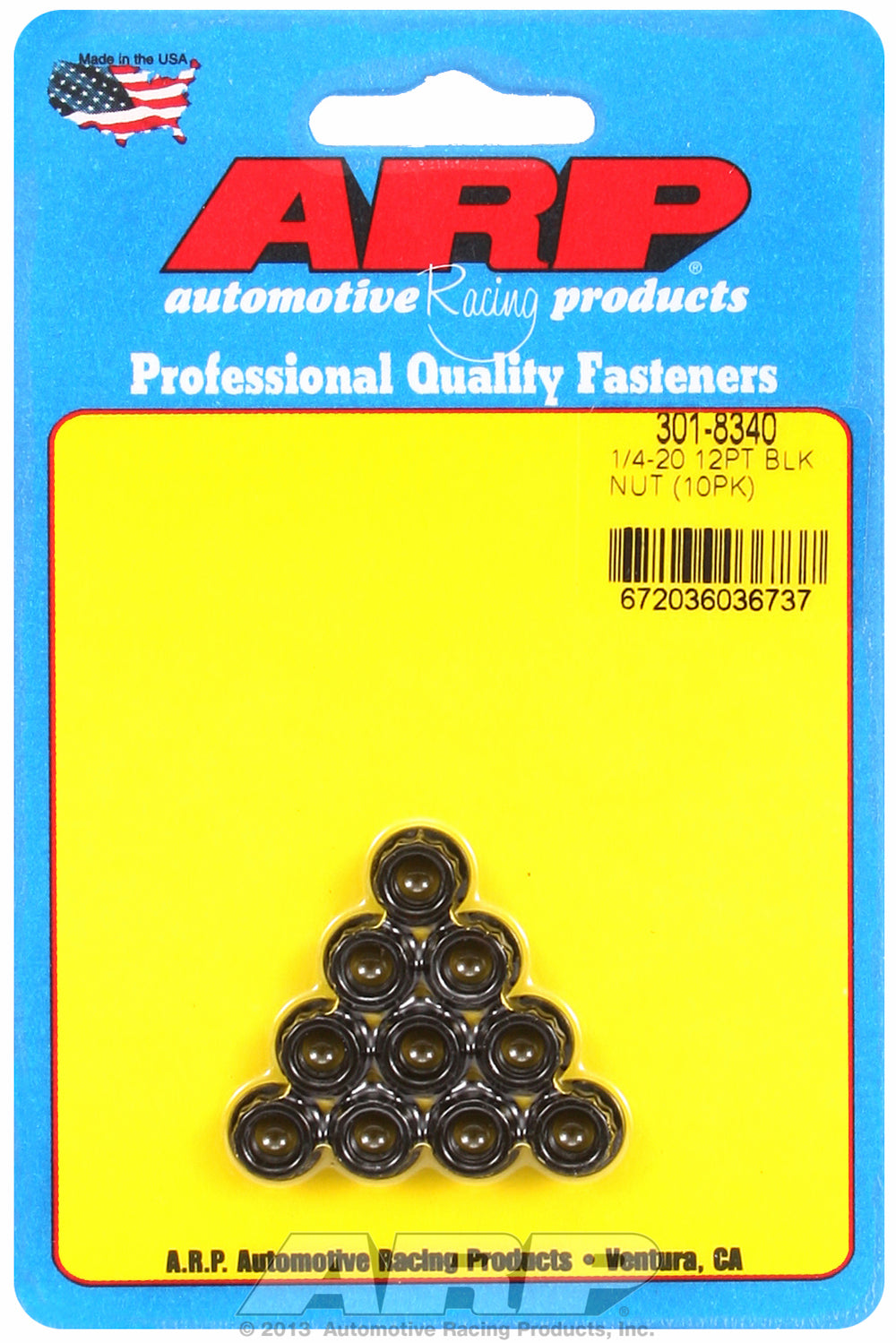1/4in  8740 Black Oxide 12-pt Nut Kit