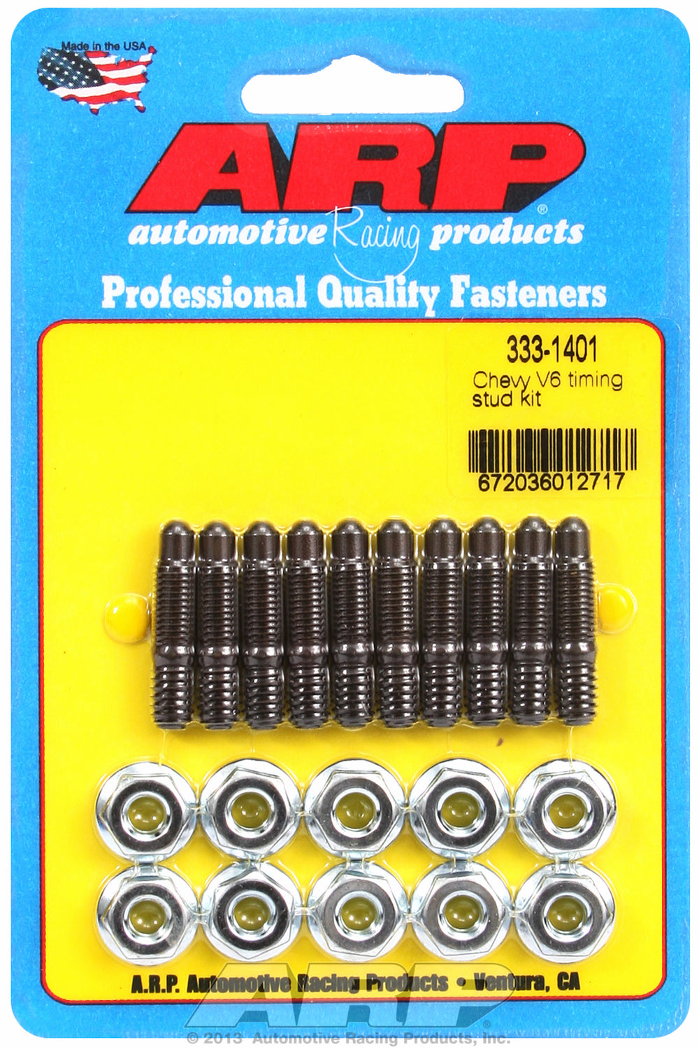 Chevy 90deg V6 Timing Cover Stud Kit