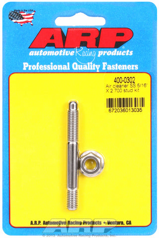5/16 x 2.700 SS air cleaner stud kit