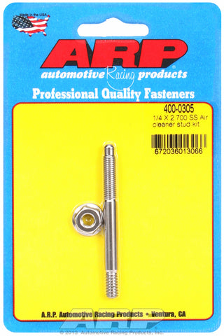 1/4 x 2.700 SS air cleaner stud kit