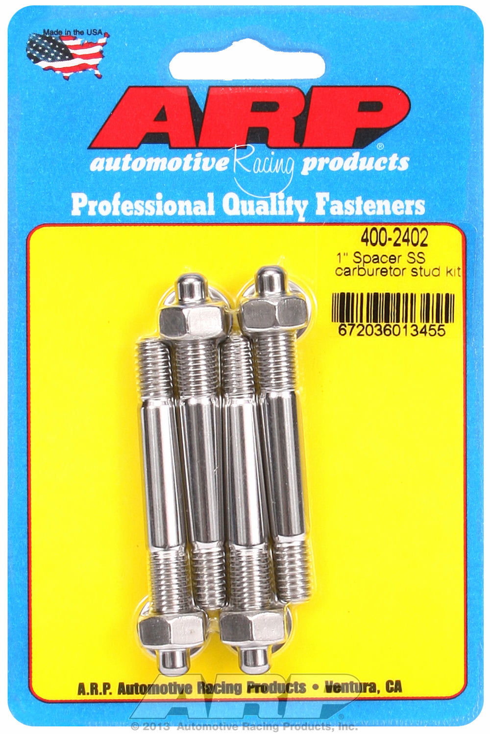 1˝ spacer Carb Stud Kit 2.7in OAL