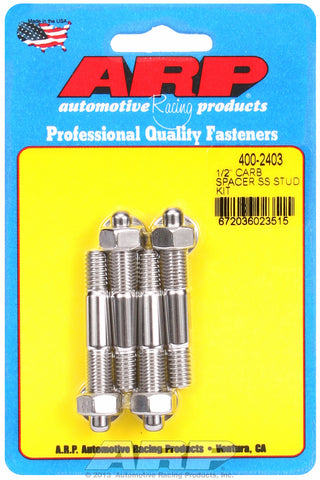 1/2˝ spacer Carb Stud Kit 2.225in OAL