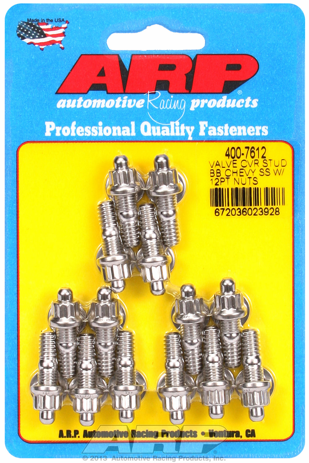 Valve Cover Stud Kit for Stamped Steel Stud kit Stainless - 12-pt Head