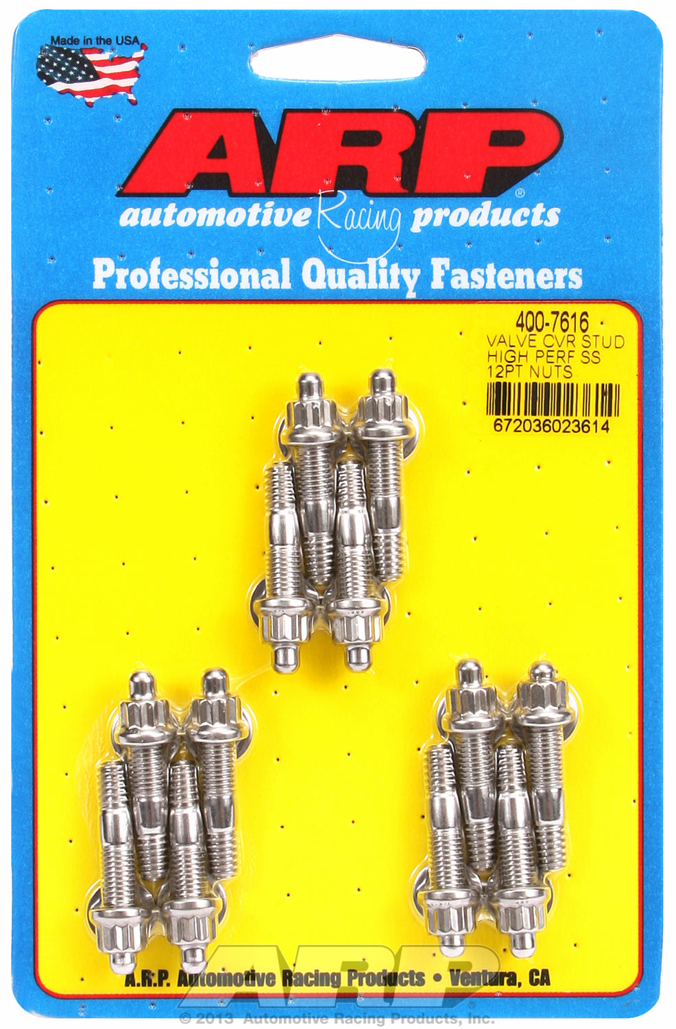 Valve Cover Stud Kit for Cast Aluminum Covers Stud kit Stainless - 12-pt Head