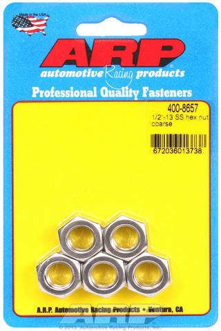 1/2-13 Stainless Hex Course Thread Hex Nut