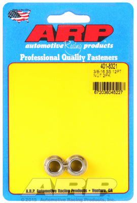 3/8in  ARP Polished Stainless Steel 12-pt Nut Kit