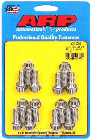 Header Bolt Kit For Buick 350-455 cid Stainless 12-Pt Head
