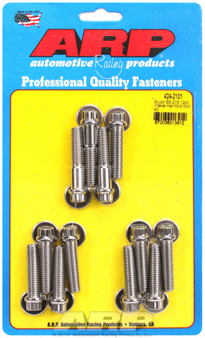 12-Pt Head Stainless Intake Manifold Bolts for Buick 215 cid, uses 3/8˝ socket