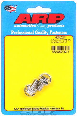 Coil Bracket Bolt Kit for Chevrolet Stainless - 12-Pt Head