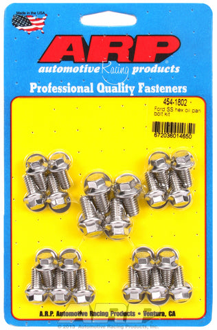 Hex Head Stainless Oil Pan Bolt Kit for Ford 289-302-351C & 351W (early model)