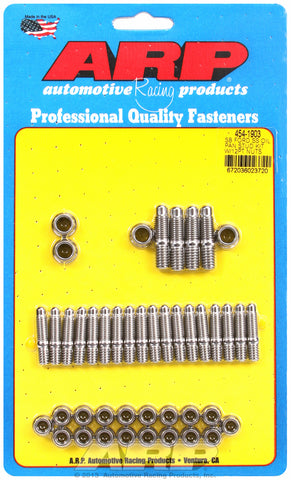 12-Pt Head Stainless Oil Pan Stud Kit for Ford 289-302-351C & 351W (early model)