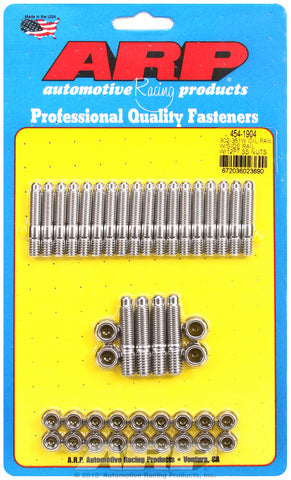 12-Pt Head Stainless Oil Pan Stud Kit for Ford 302-351W (late model with side rails)