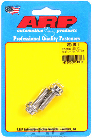 Fuel Pump Bolt Kit for Pontiac Stainless - 12-Pt Head