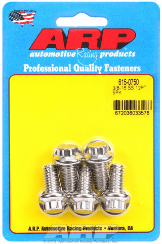 3/8-16 x 0.750 12pt 7/16 wrenching SS bolts