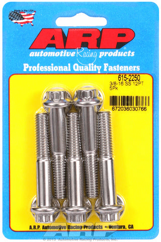 3/8-16 x 2.250 12pt 7/16 wrenching SS bolts