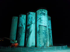 Lithgow Silos lit by Event Lighting LED Strobe Lights