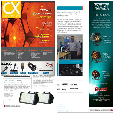 Event Lighting in CX magazine