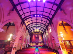 Event Lighting fixtures at Pilgrim Church