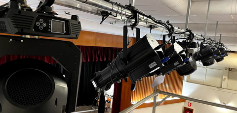 Event Lighting products at Stage and Audio install Winton Shire Hall