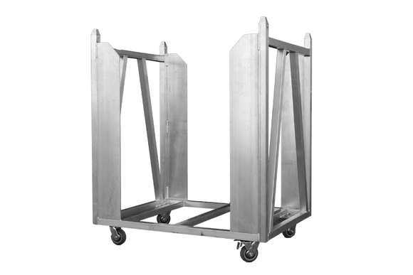Event Lighting Crowd Barrier Trolley front