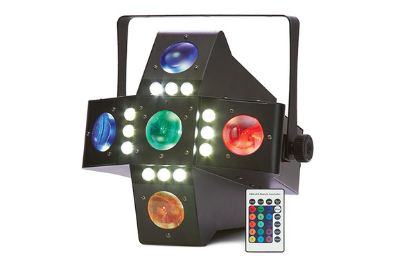 Event Lighting Lite - DARKSTAR - 2-in-1 Effect (Fat Beam + White Strobe) with Remote
