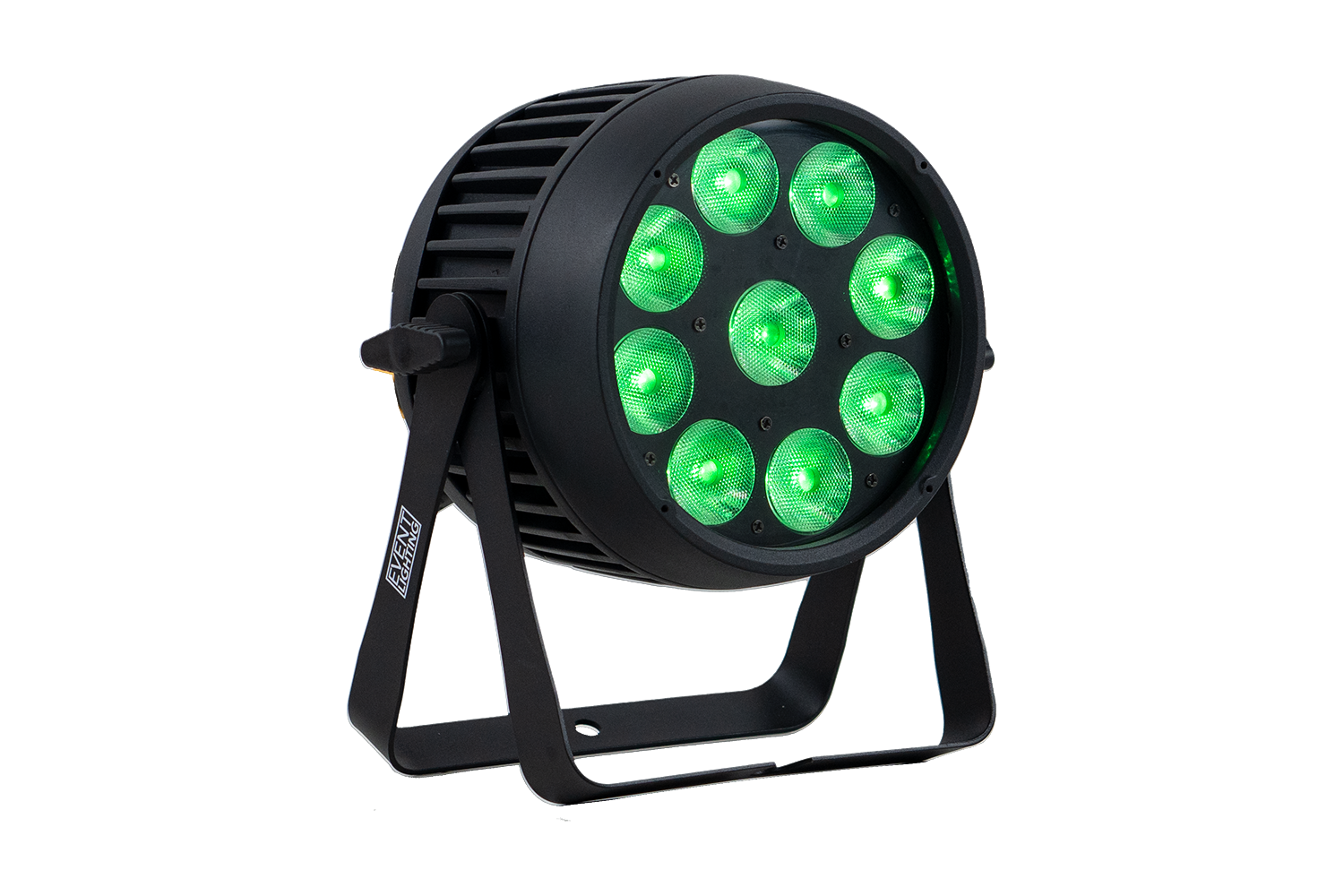 Event Lighting PAR9X15O front green