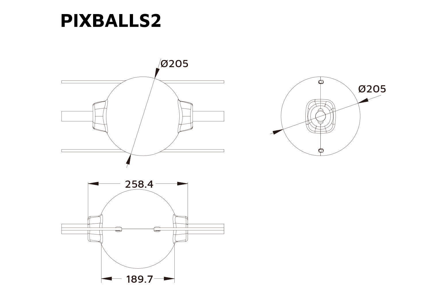PIXBALLS2 - IP65 RGB Festoon Lighting System