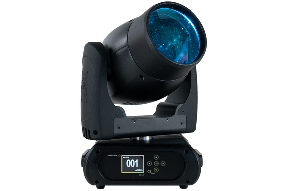 Event Lighting M1B100W Beam Moving Head, front, blue