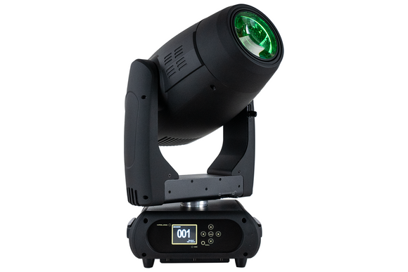 Event Lighting M1H420W hybrid moving head, hero, green