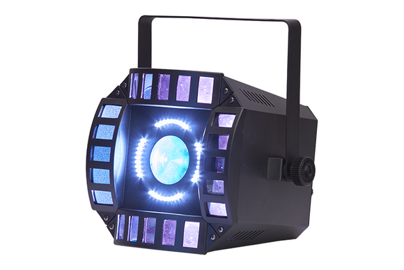 Event Lighting Lite ORBIT - 3 in 1 Effect - LED Matrix, LED Multi Beam and White LED Strobe