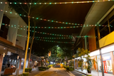 Event Lighting PIXBALLS2 Outdoor Festoon Lighting System, Rouse Hill installation, view from street