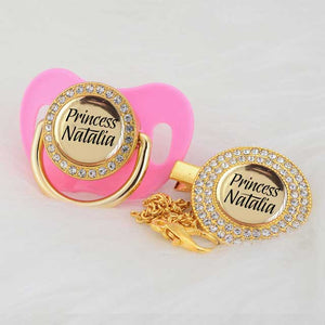 Personalized pacifiers with bling