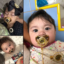 Load image into Gallery viewer, Personalized pacifiers with bling