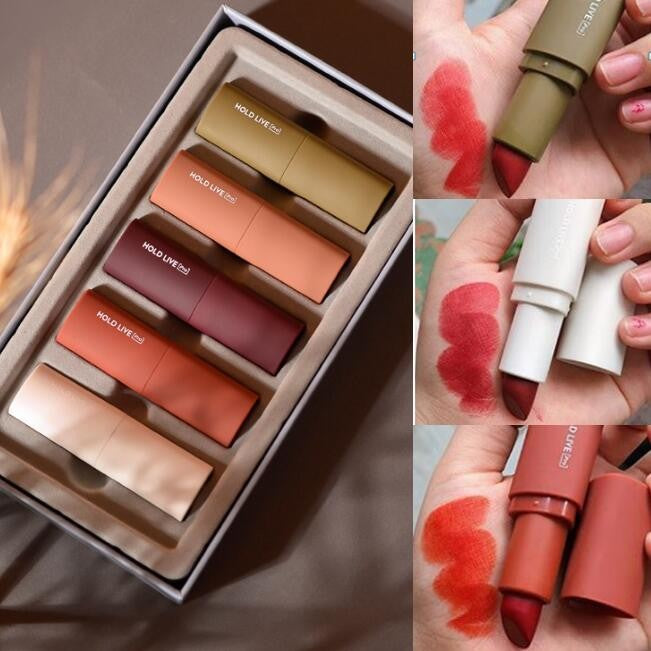 5 in 1 Mini Matte Lipstick & Liptint ( BUY 1set GET 1set)