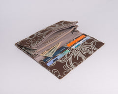 Anna Wallet: Silkscreened Cotton