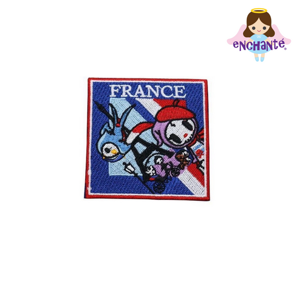 tokidoki Iron-On Embroidery Patch - France