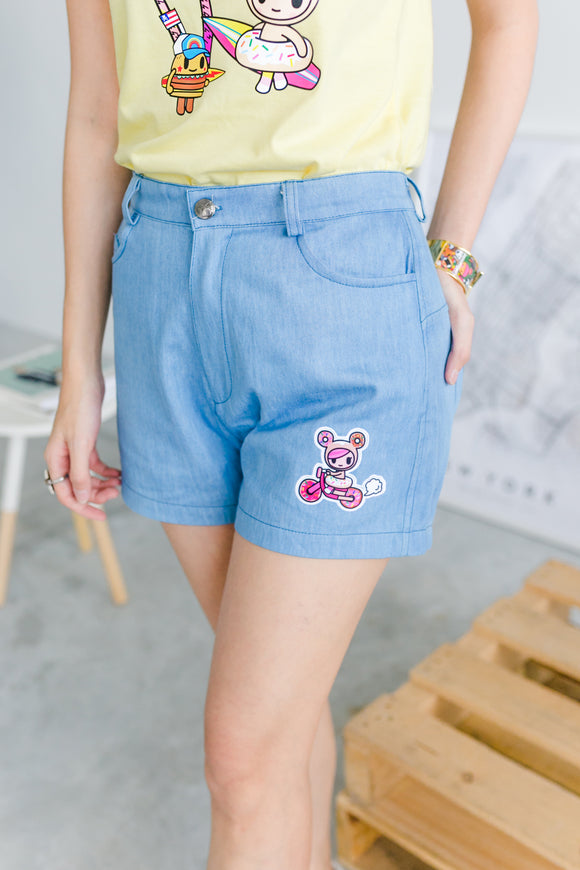 Lightweight Denim Shorts