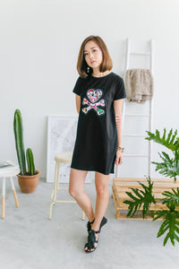 Signature Logo T-shirt Dress (Black)
