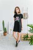 tokidoki Signature Logo T-shirt Dress (Black)