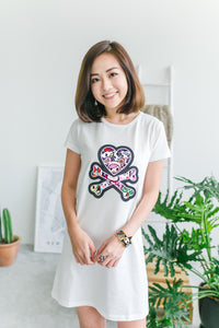 tokidoki Signature Logo T-shirt Dress (White)