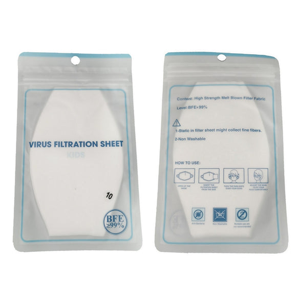 Disposable Filtration Sheets (Certified BFE ≥ 99%)