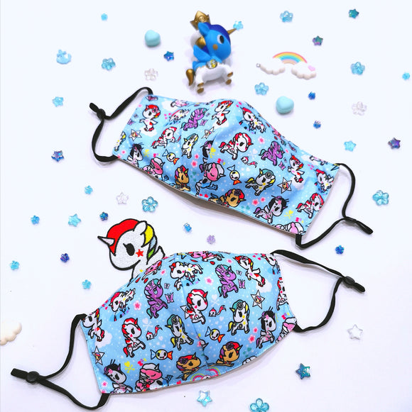 (Preorder) tokidoki Unicorno Anti-Bacterial Reusable Mask