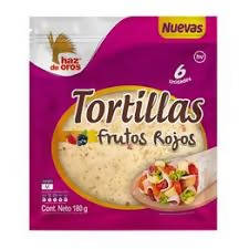 Tortillas Frutos Rojos x 6u