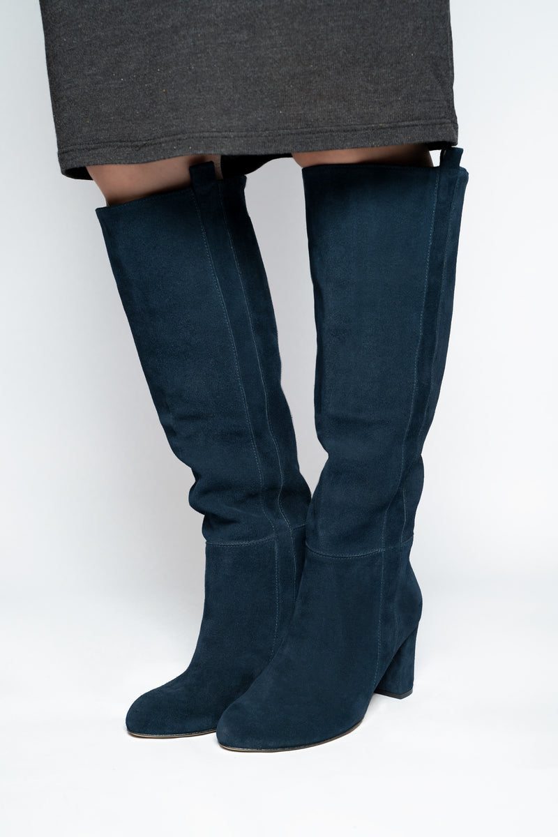 'NAVY' KNEE HIGH BOOT