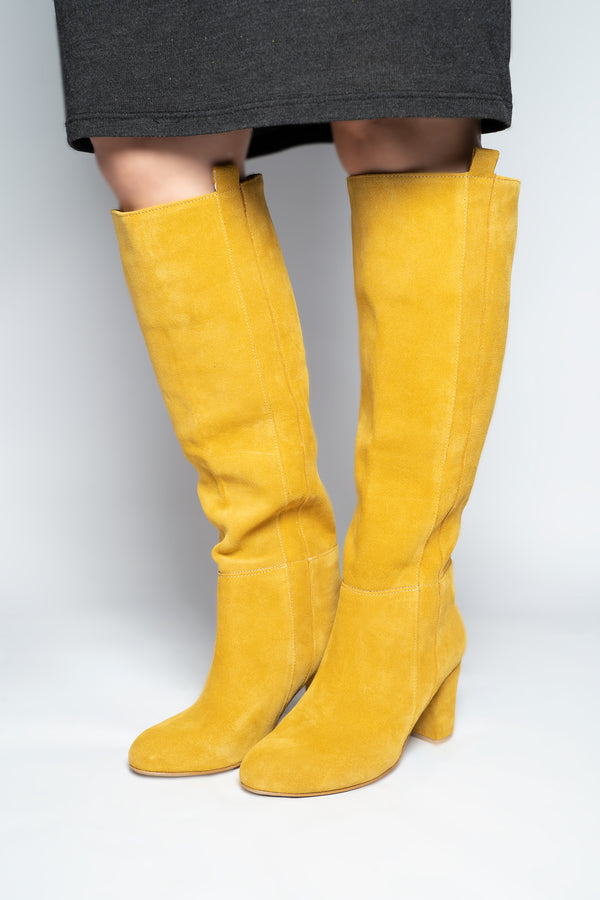 'MUSTARD YELLOW' KNEE HIGH BOOT